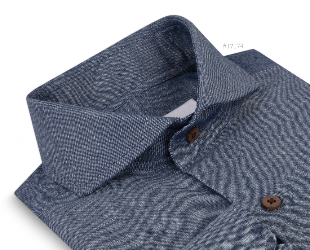Washed Indigo Linen Chambray