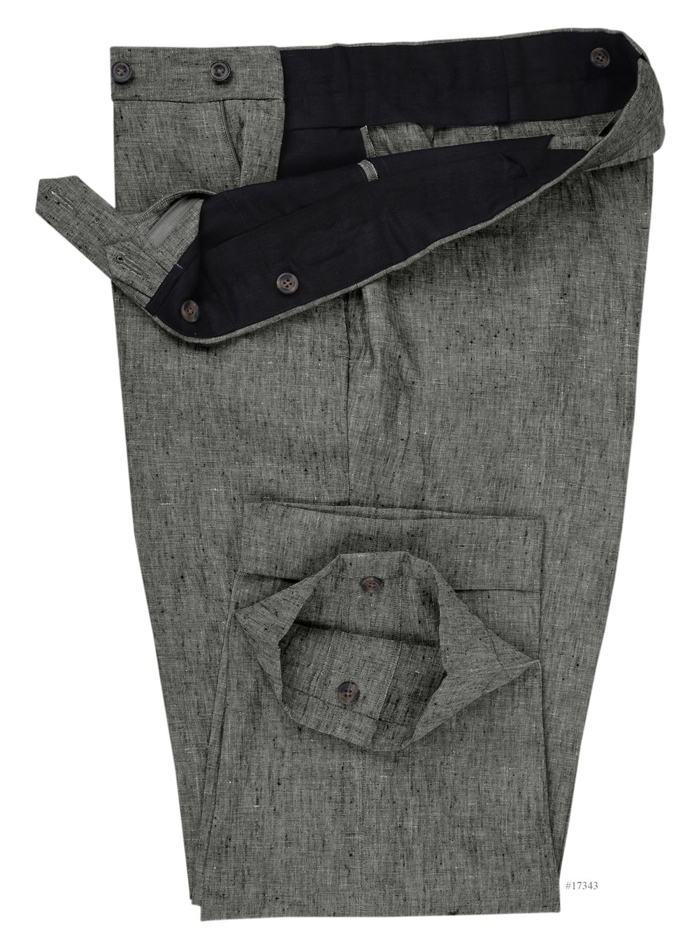 Linen: Mid Grey Chambray Pants