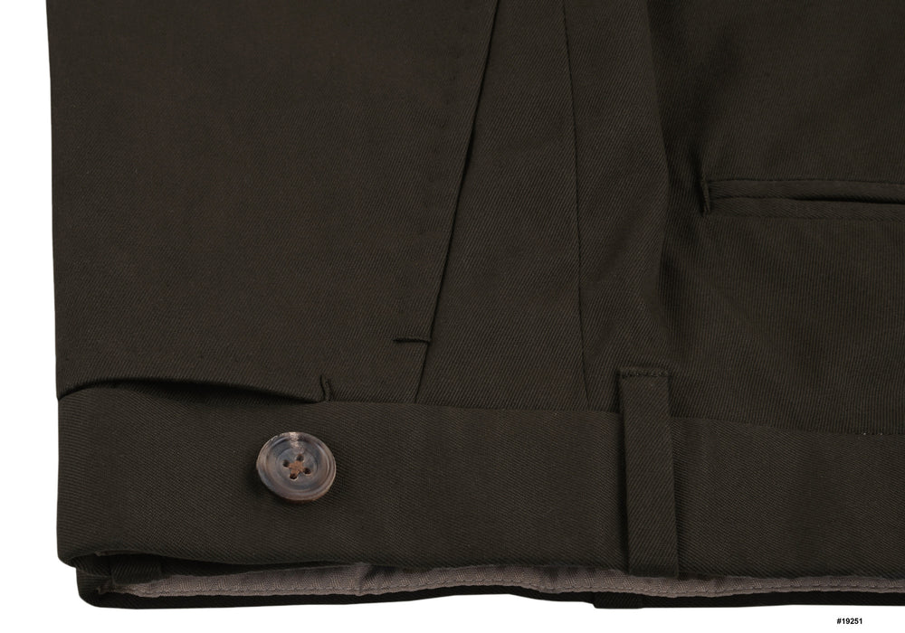 Dark Army Green Cotton Twill