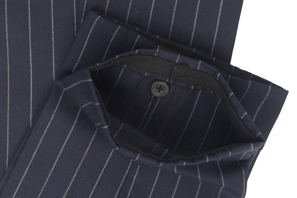 Dugdale Fine Worsted - Navy Chalk Stripe