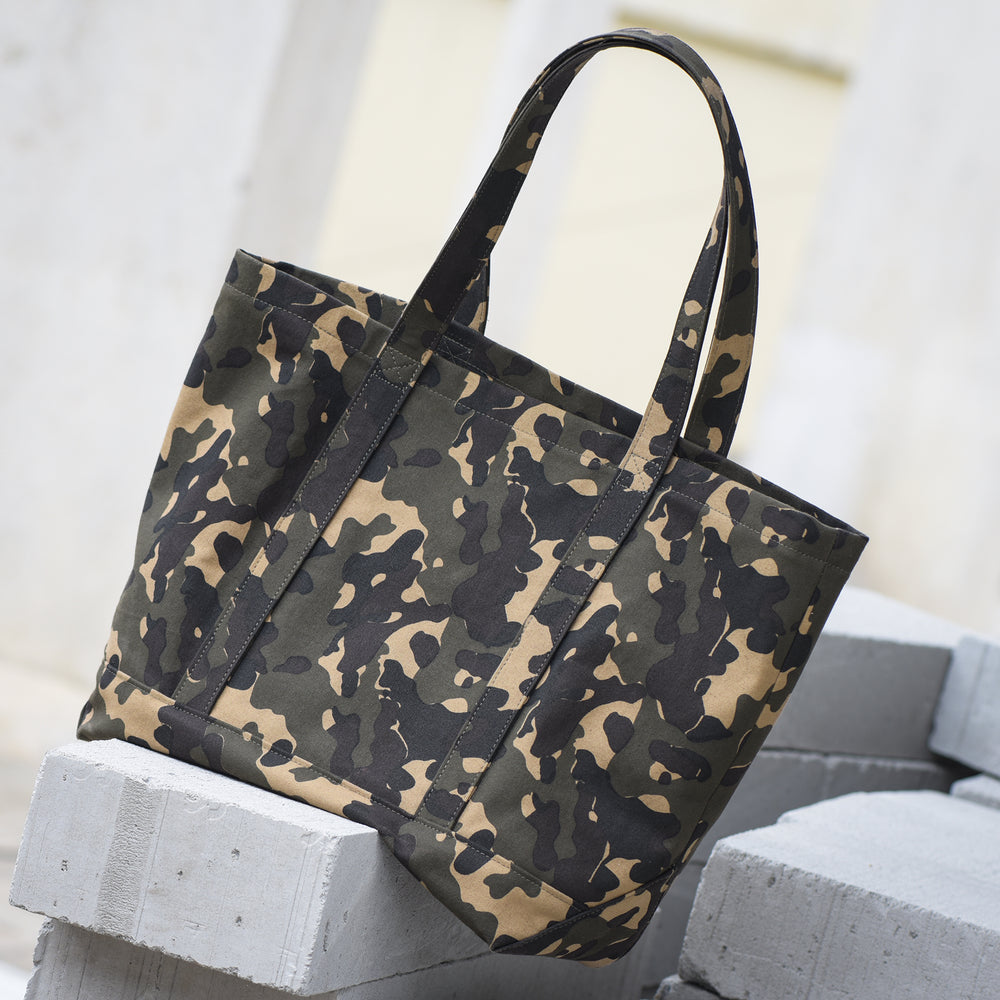 Jungle Camo Duck Canvas Tote Bag