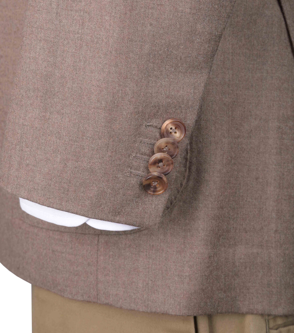 EThomas Wool Cashmere: Brown Twill Jacket