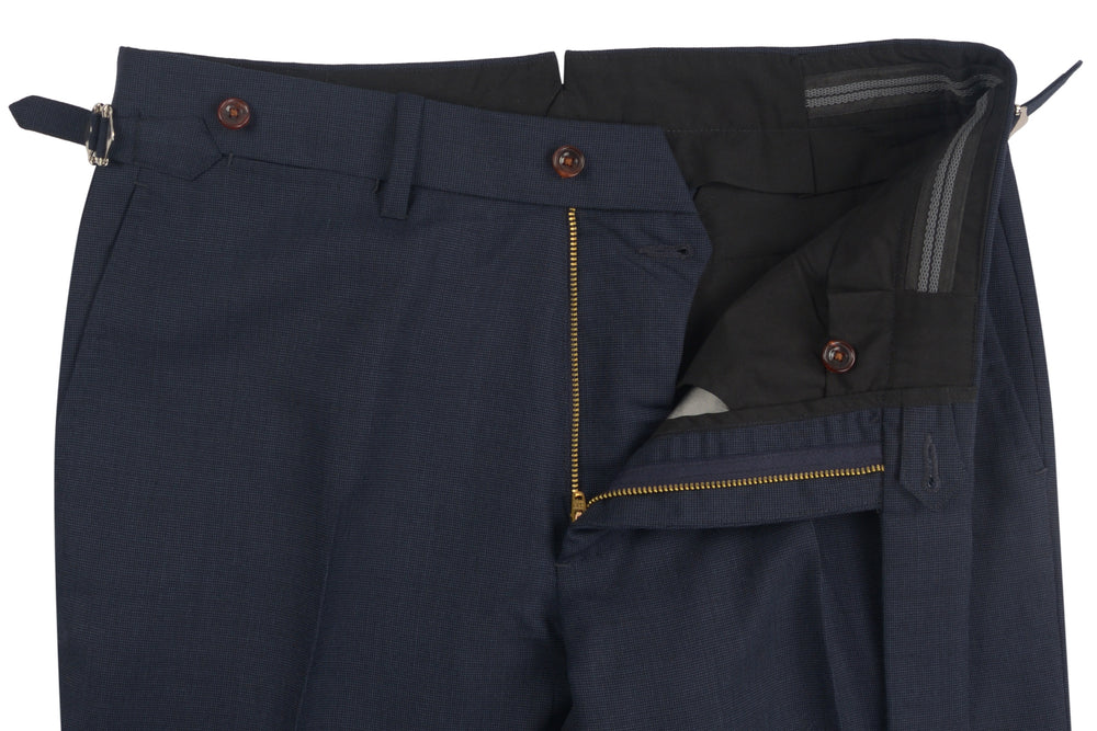 Dugdale Fine Worsted Pant - Blue Pinhead