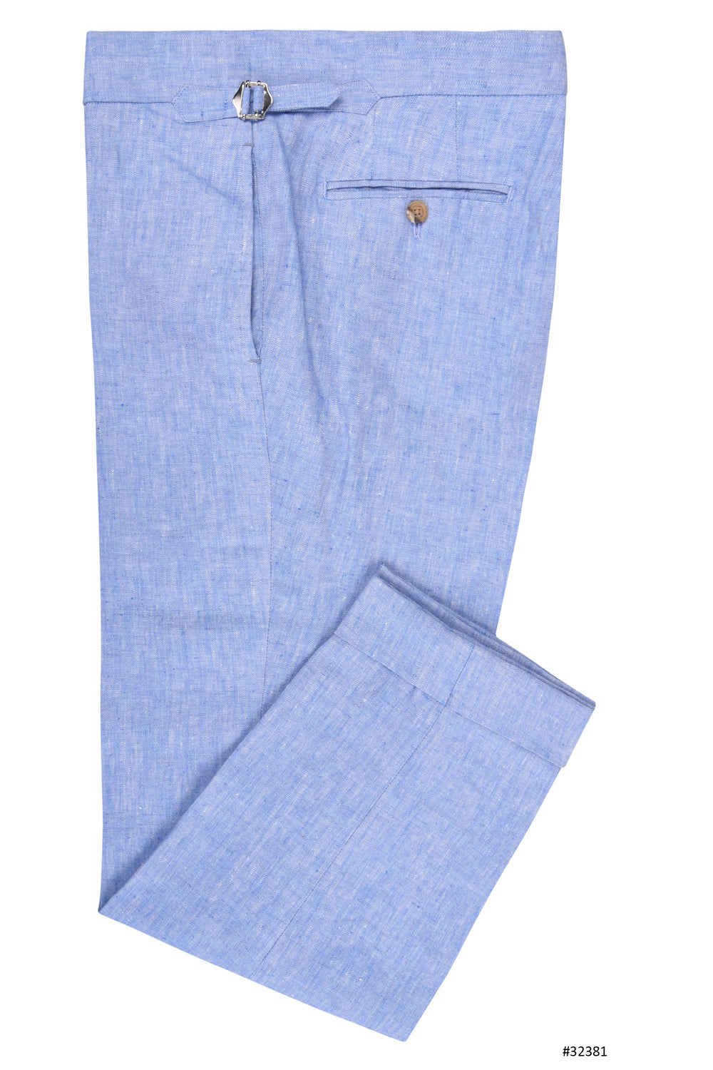 Linen: Herringbone Corn Flower Blue