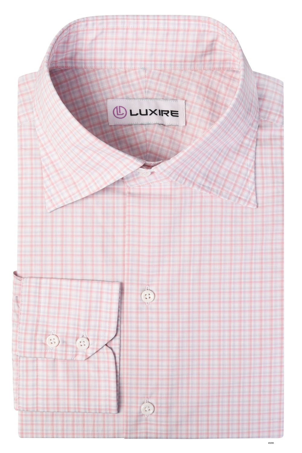 Alumo Salmon Pink and Grey Mini Tartan Checks