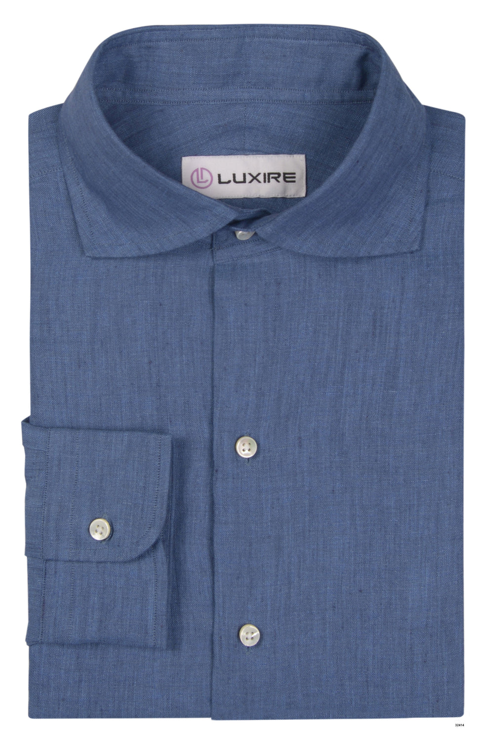Cornflower Blue 100% linen Shirt