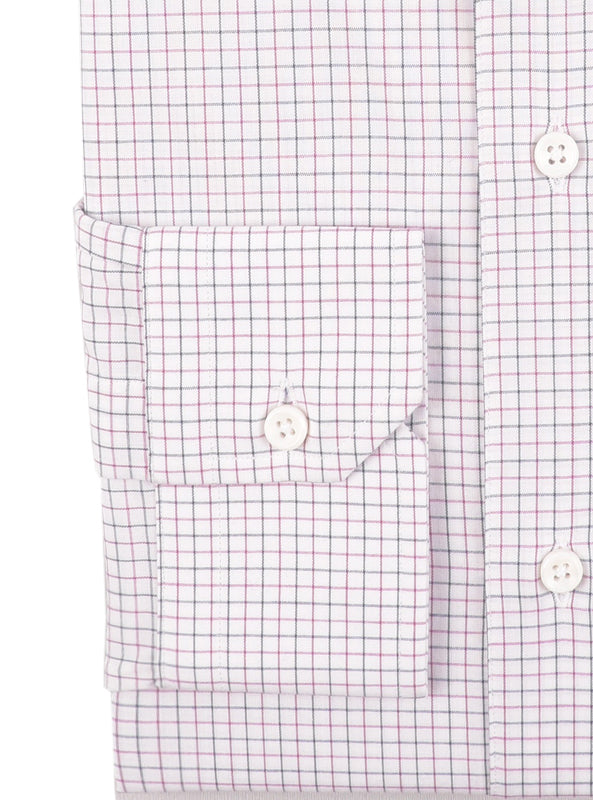 Mauve Black Tattersall Checks on White (363695165)