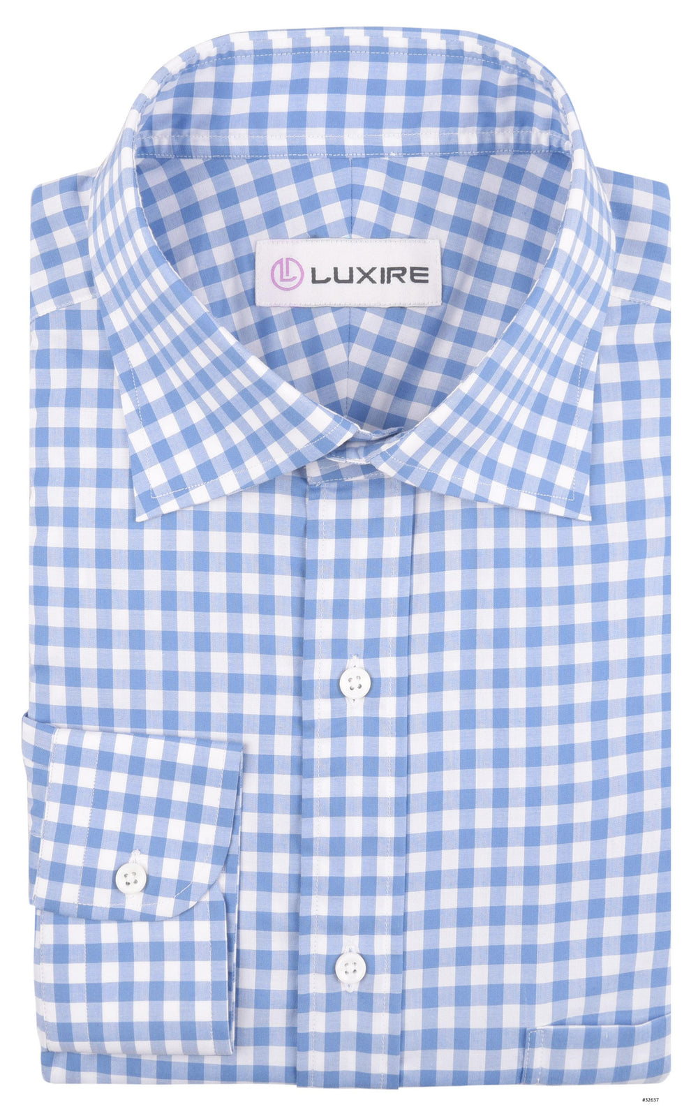 Ultramarine Light Blue Checks on White (363696301)