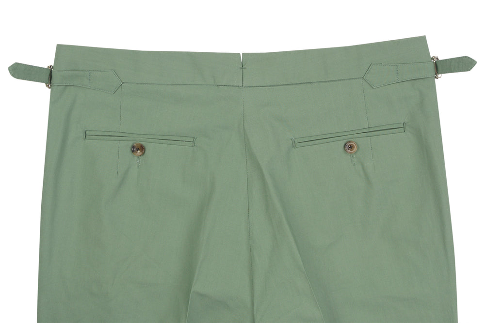 Chino: Green Slub Chambray