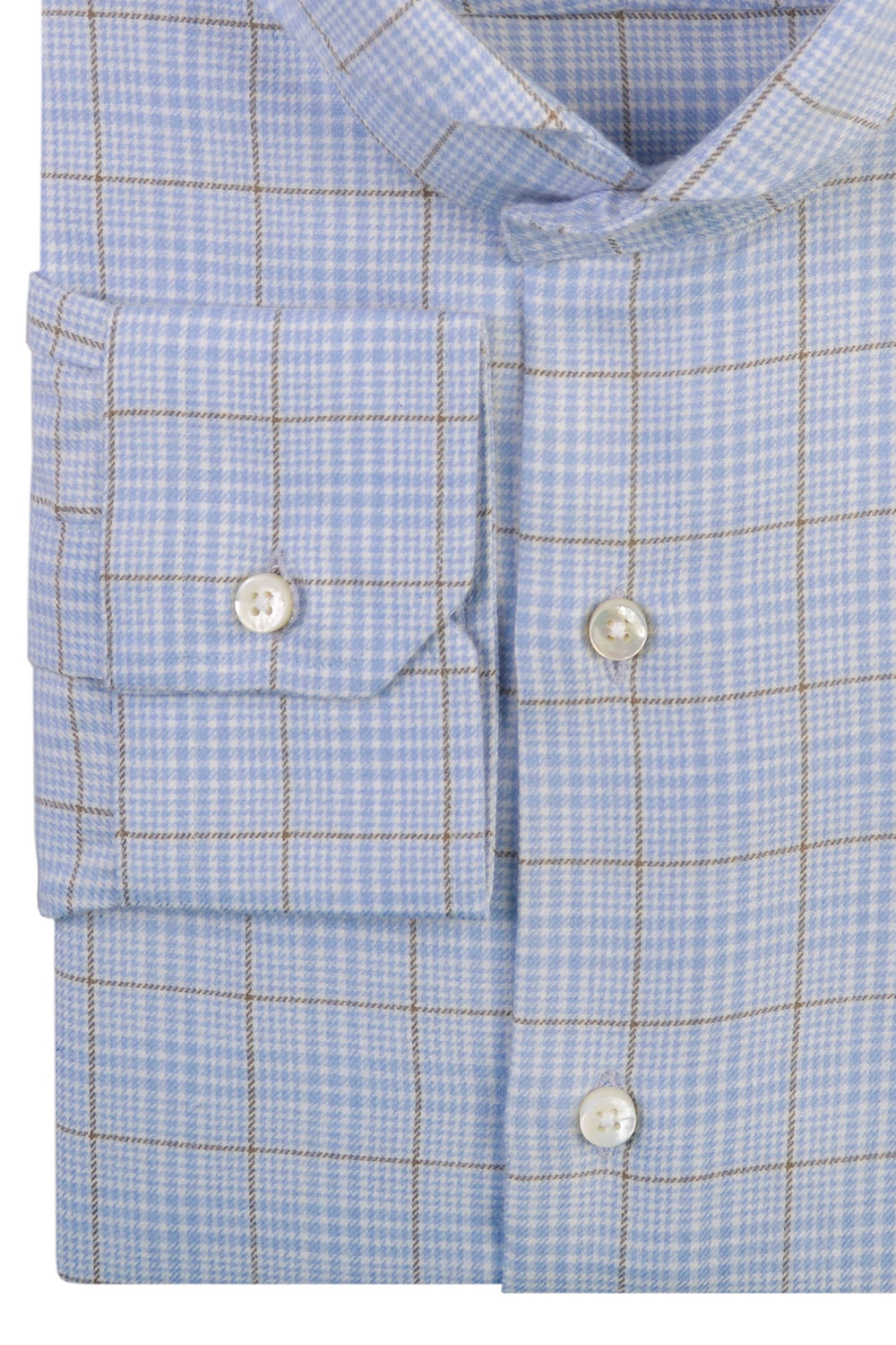Cashmerello Alumo: Pastle Blue Olive Glen Checks