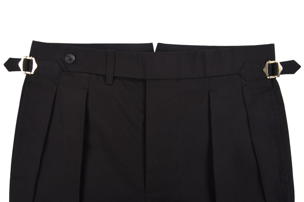 Black Ripstop Chino Pants