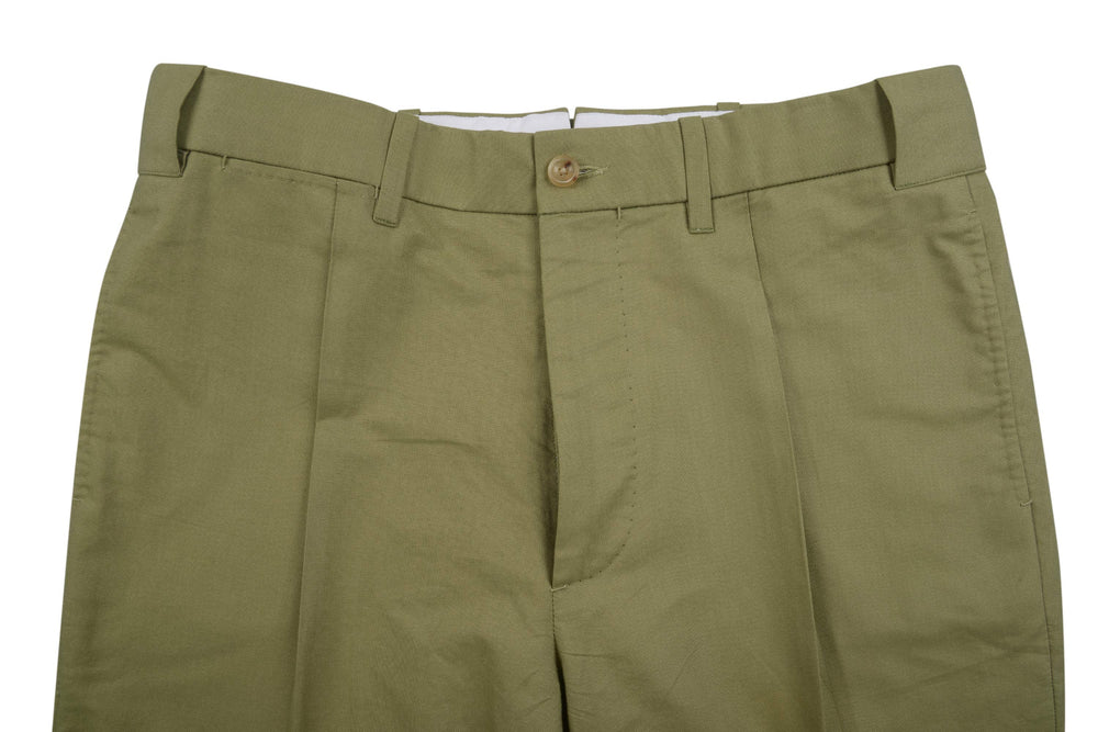 Olive Green Canvas Pants (203975761)