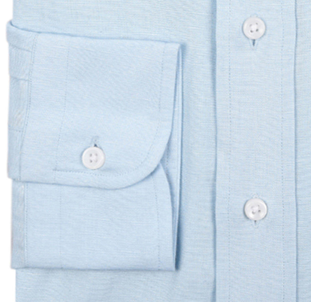 Powder Blue Linen Shirt (279786097)