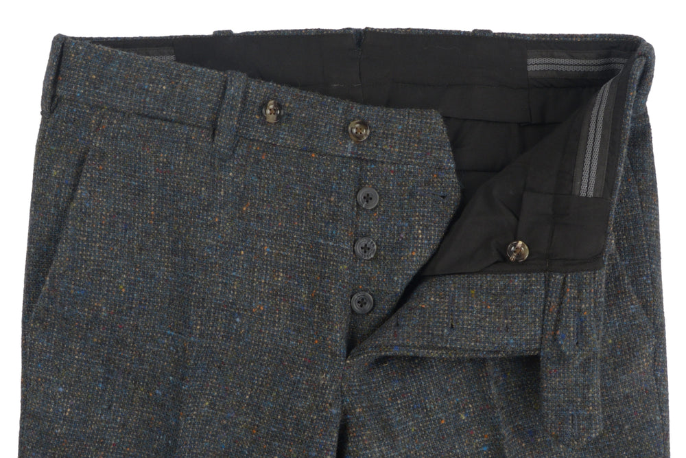 Molloy Plain Donegal Tweed Pants - Pine Green (355715837)