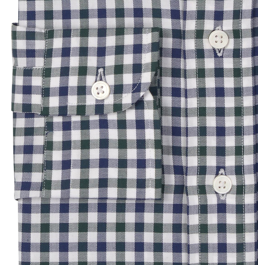White Blue Green Gingham