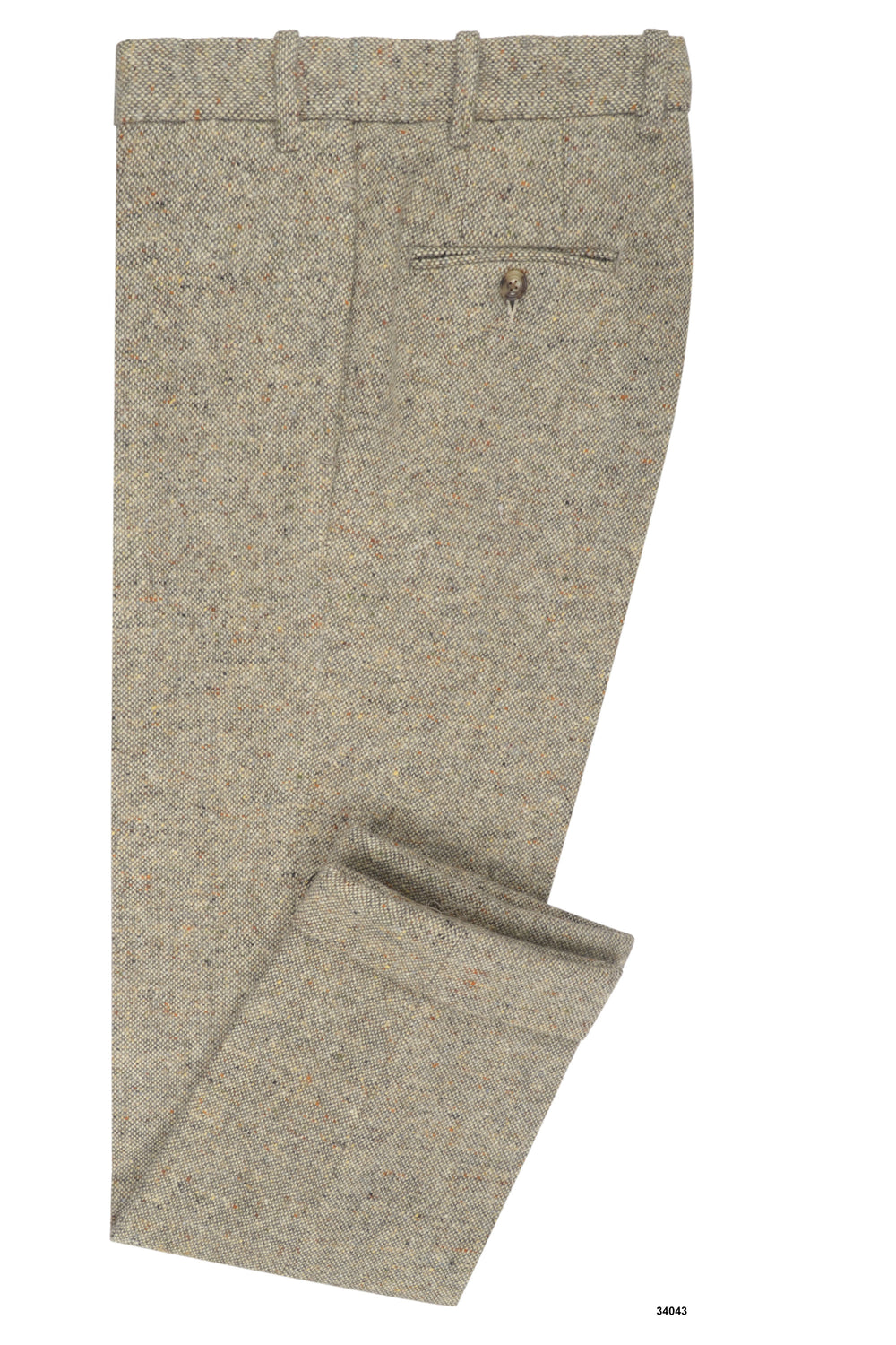Molloy Plain Donegal Tweed Pants - Cream