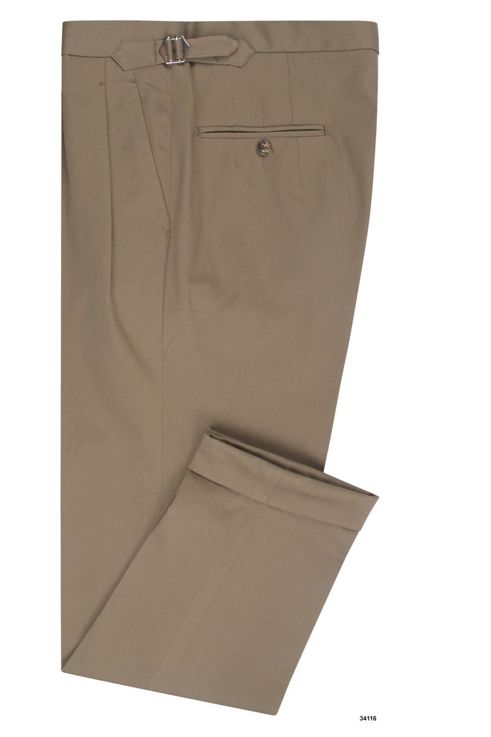 Fossil Brown Soft Twill Chino