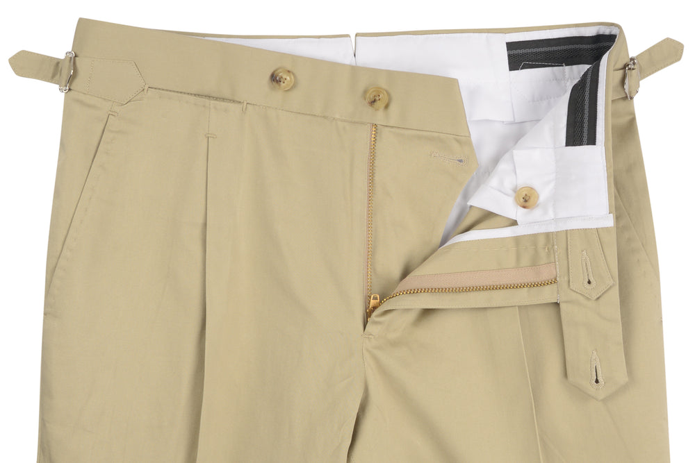 Light Khaki Soft Cotton Chinos