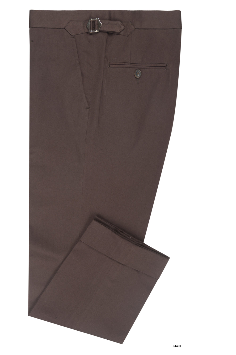 Chocolate Brown Soft Chino (164177817)