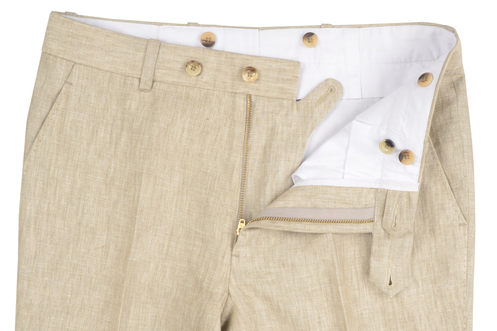 Linen: Natural Ecru Pants