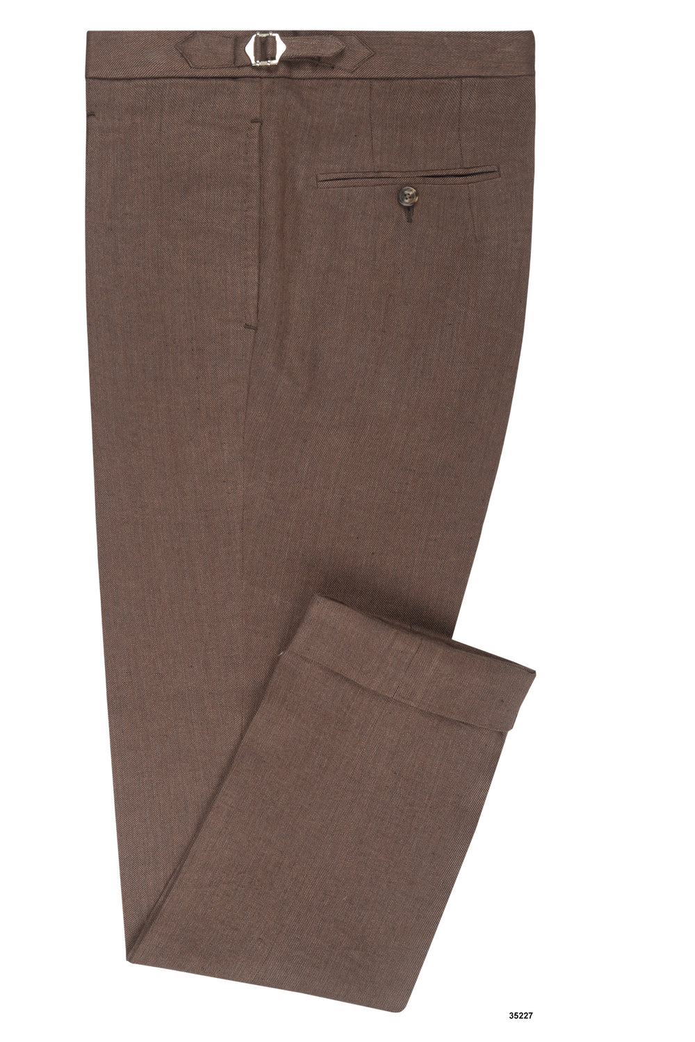 Linen: Brown Twill Pants