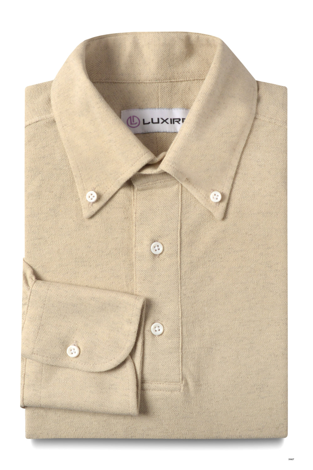 Heather Cream Polo - Linen Cotton