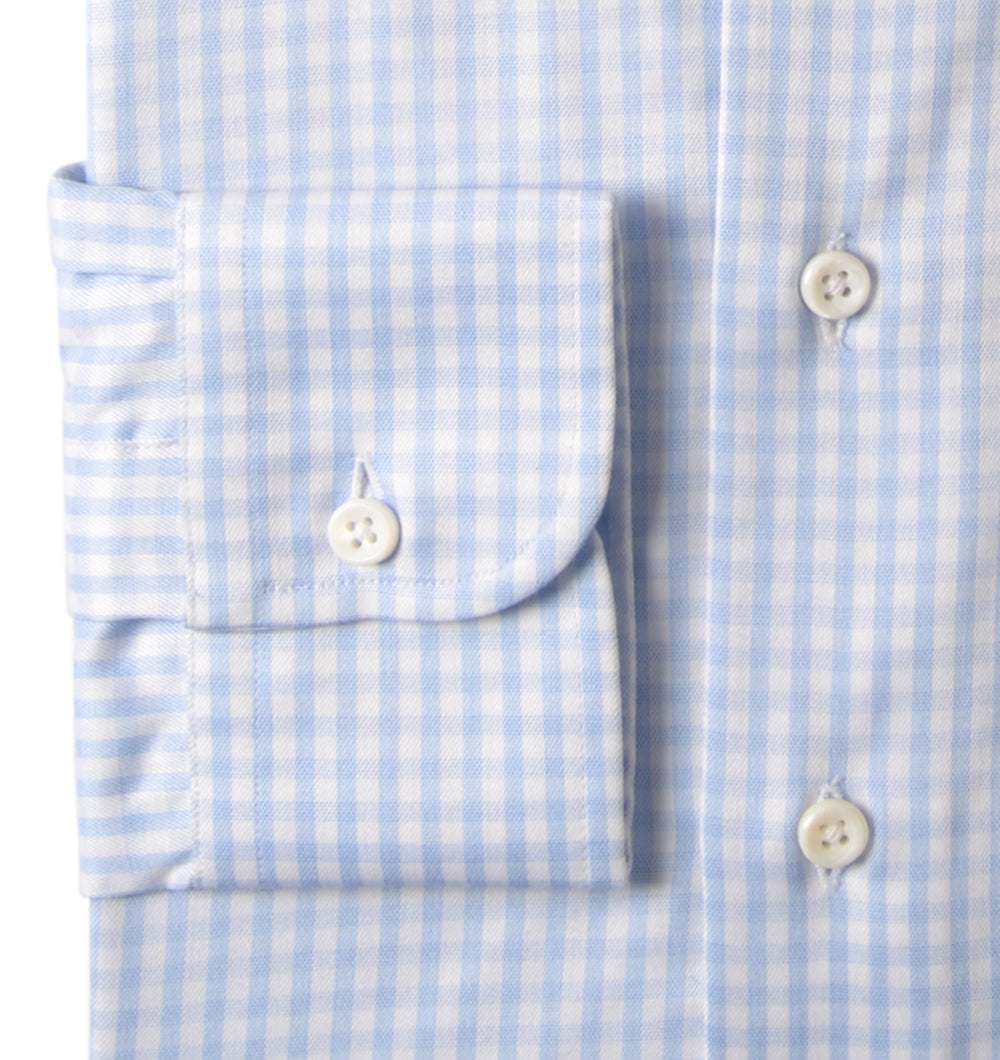 Zegna Soft Blue HairLine Gingham (203975029)