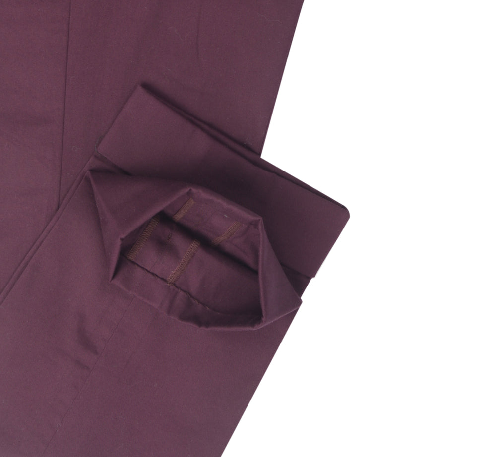 Fresco: Matt Wine Twill Pants
