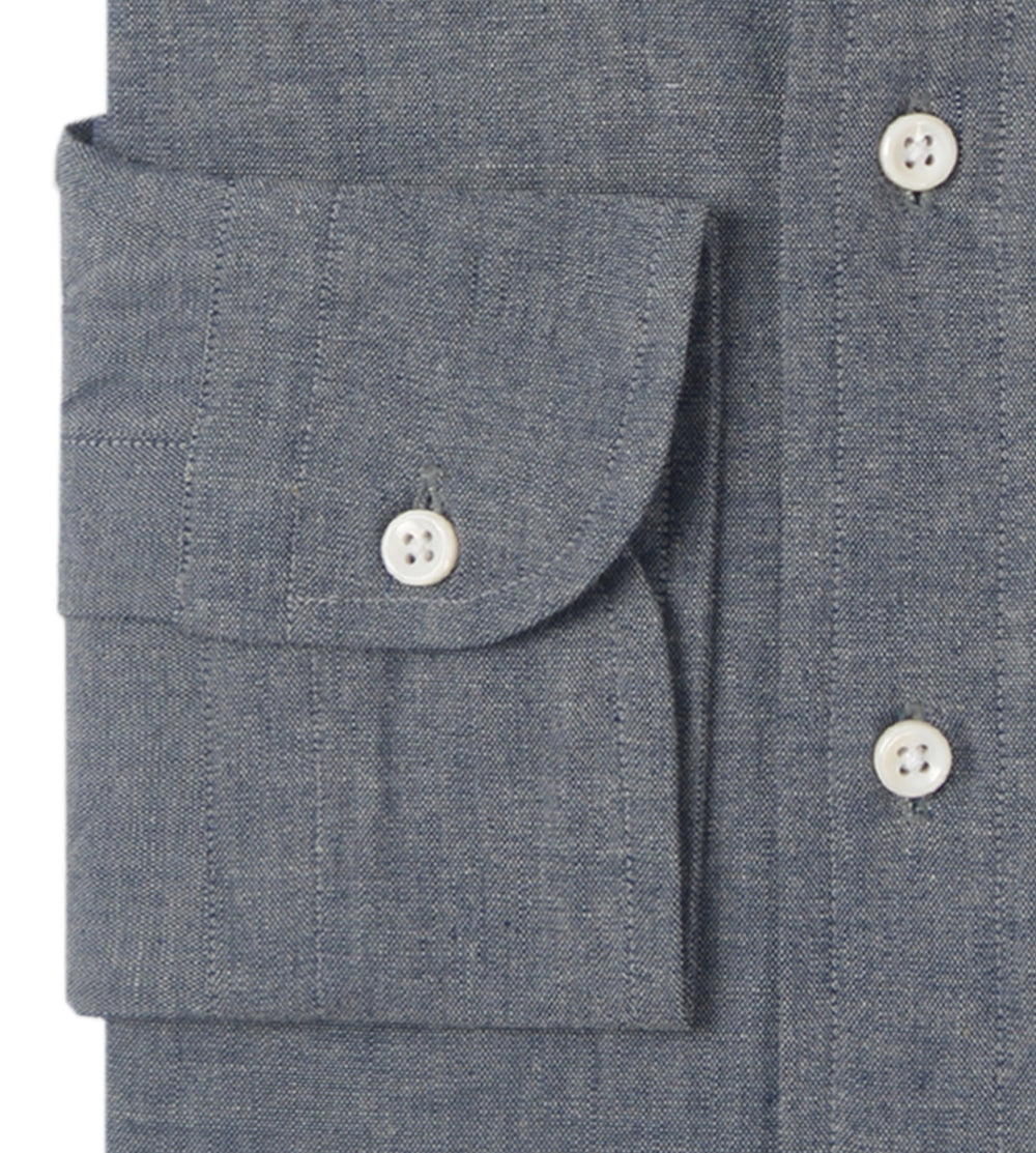 Blue Denim Slubby Chambray