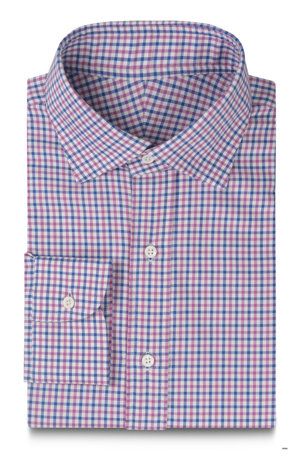 Pink Blue Small Gingham (203976249)
