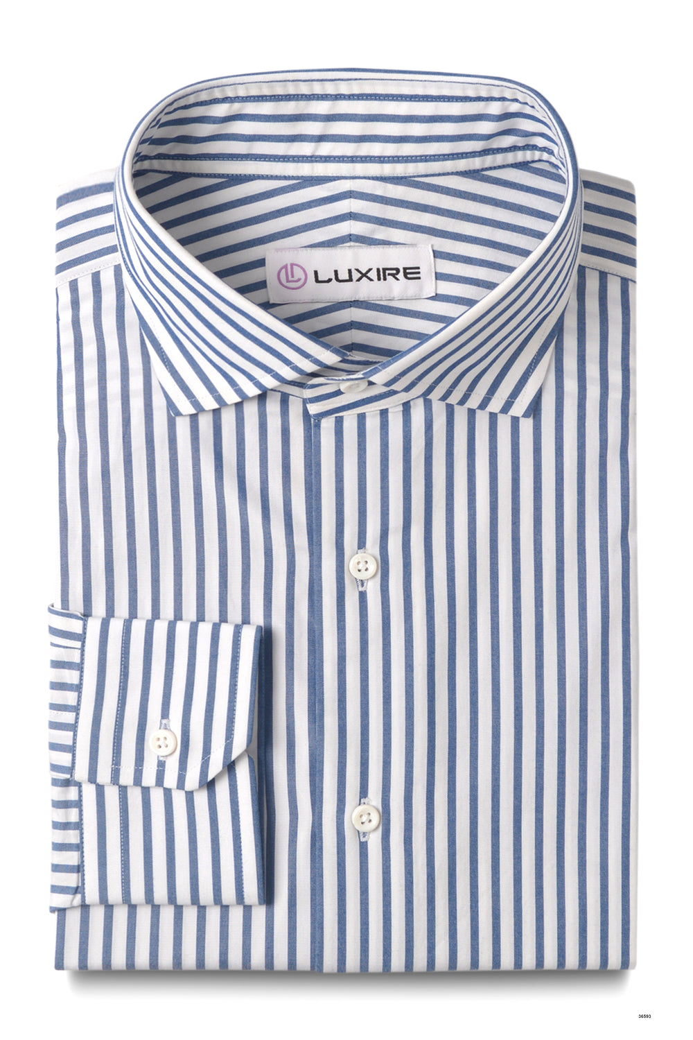 Friday Shirt: Blue Pencil Stripes On White (228922789)