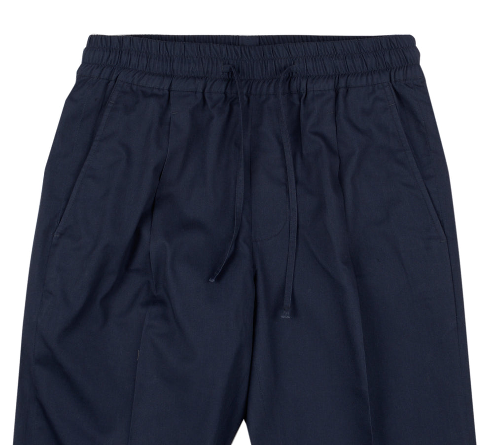 Navy Soft Twill Drawstring Pants