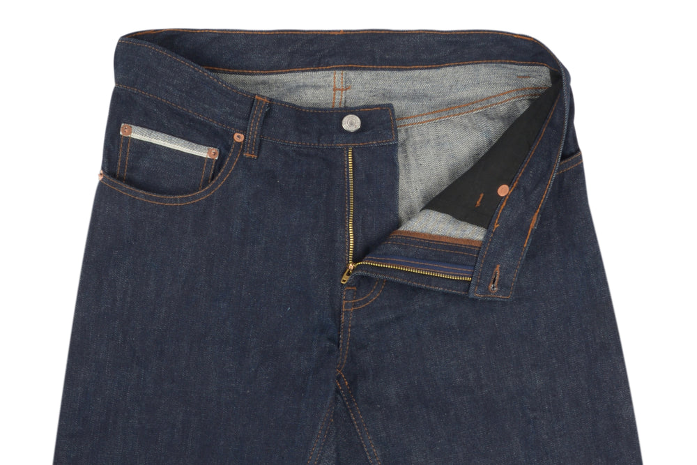 Luxire Selvedge Raw Dark Indigo Navy Jeans