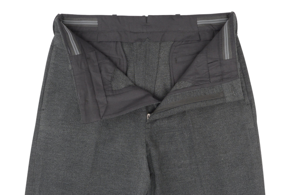 Midnight Grey Cotton Gabardine Heavy Twill (542933124)