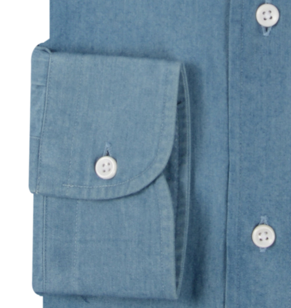 Washed Indigo Denim Chambray