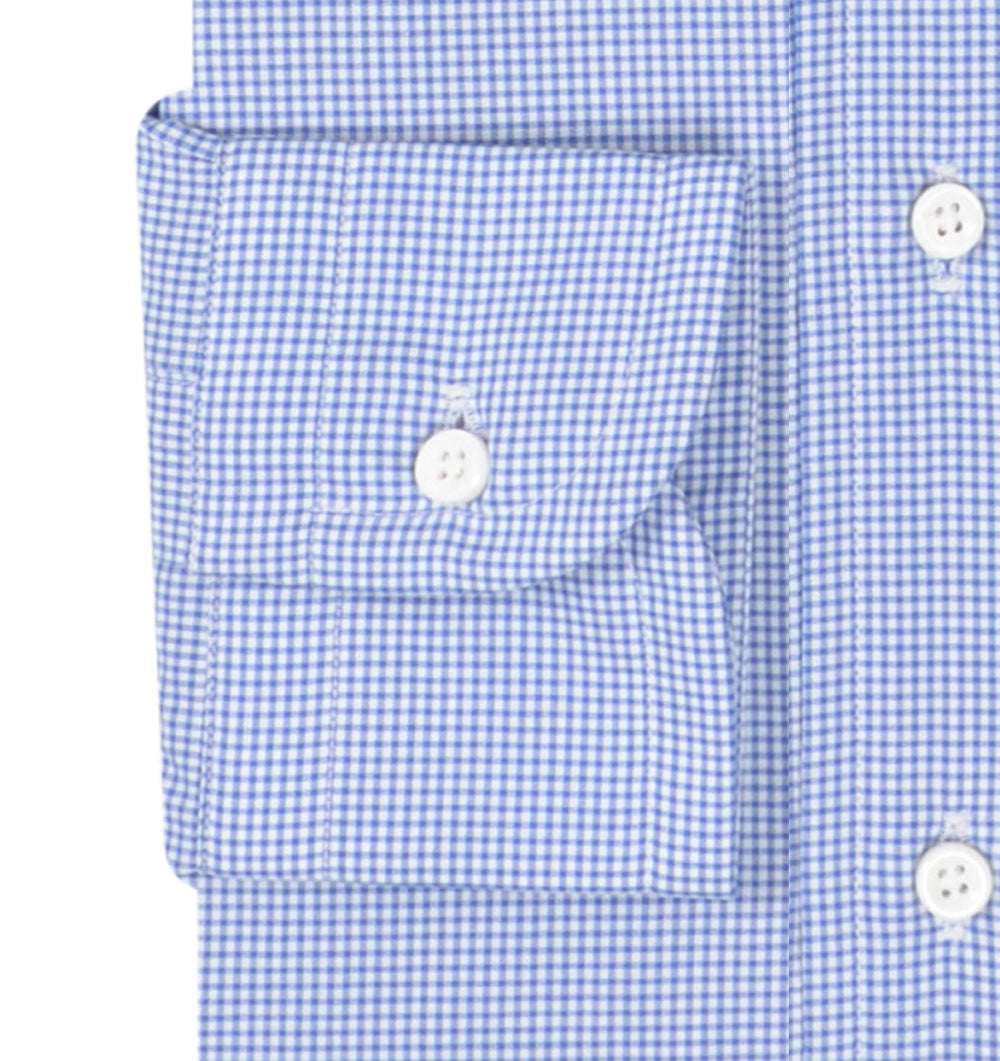 Blue Micro Gingham Checks (203975309)