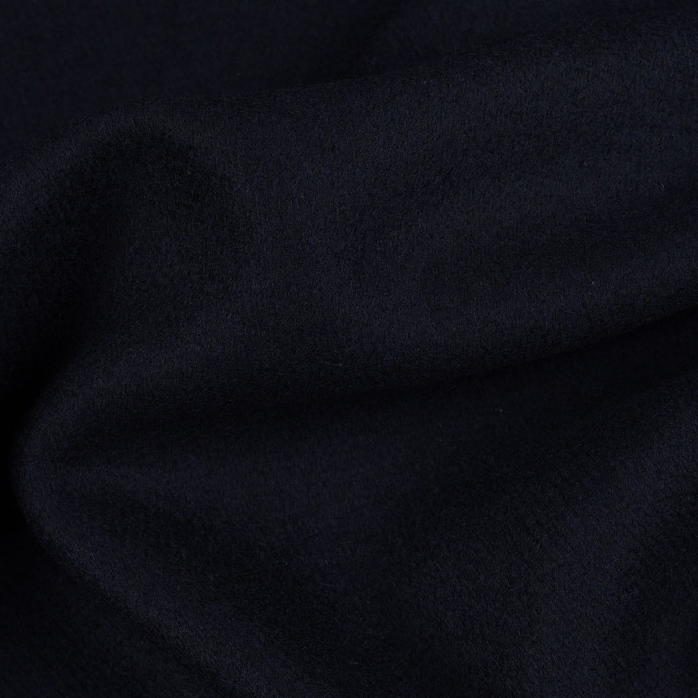 Dark Navy Twill Wool Topcoat