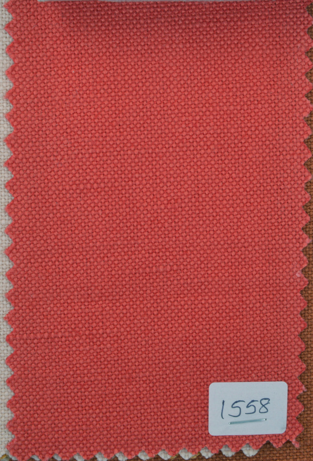 Linen Cotton Canvas:Tomato Red