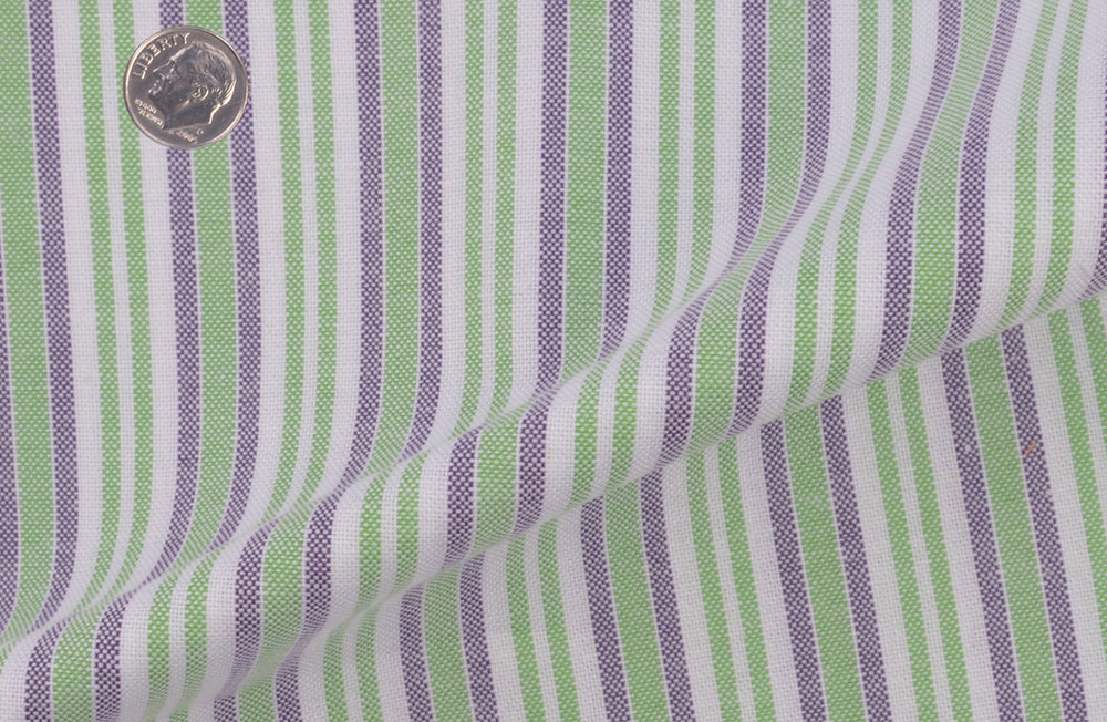 Oxford: Shades of Green Mauve Stripes