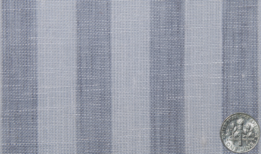 Linen: Grey Tape Stripes On White
