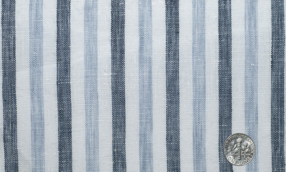 Linen: Shades Of Blue/Grey Bengal Stripes