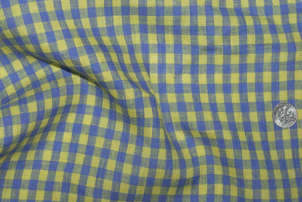 Linen: Yellow Blue Gingham
