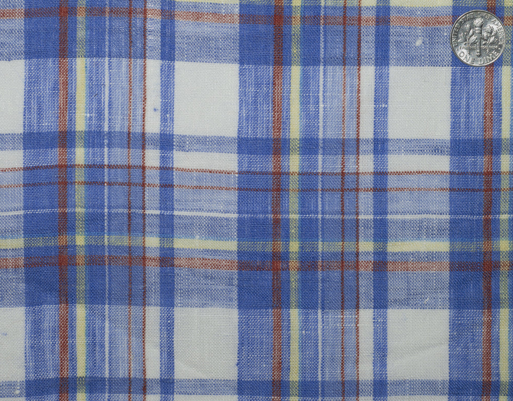 Linen: Blue Red Yellow Madras