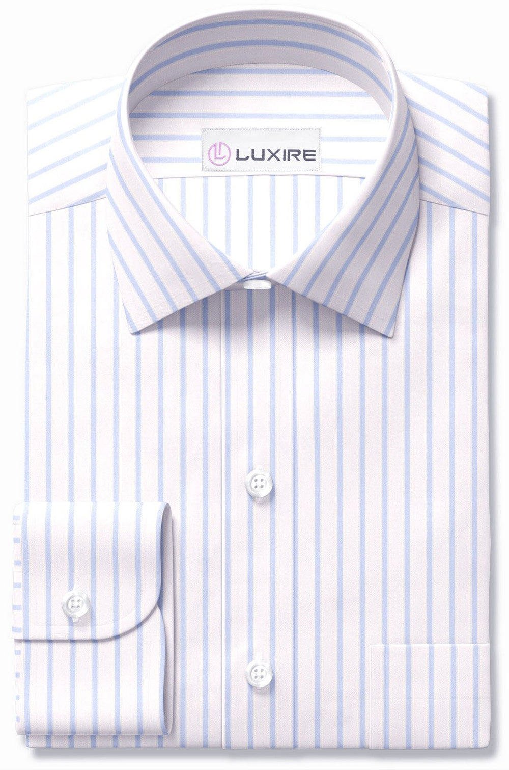 Luxire Gold - White with Blue Stripes (95744982)