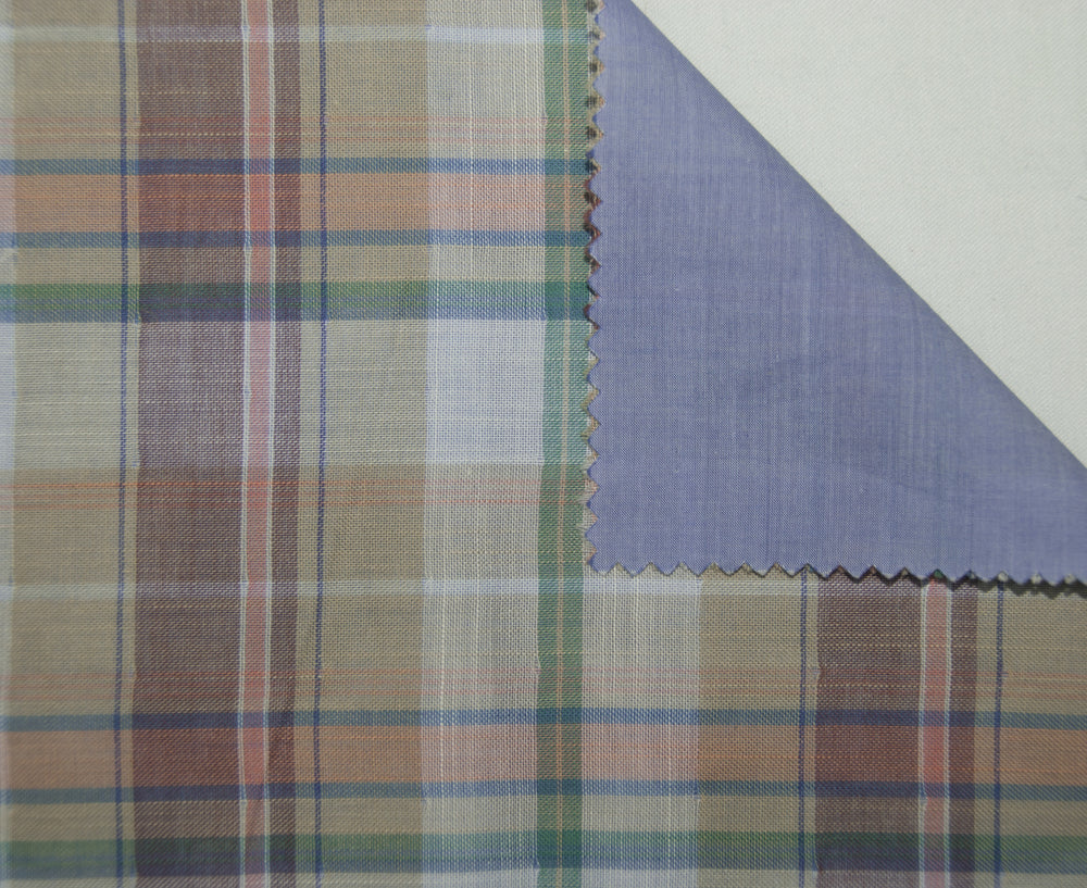 Soft Light Summer:Peach Blue Green Madras