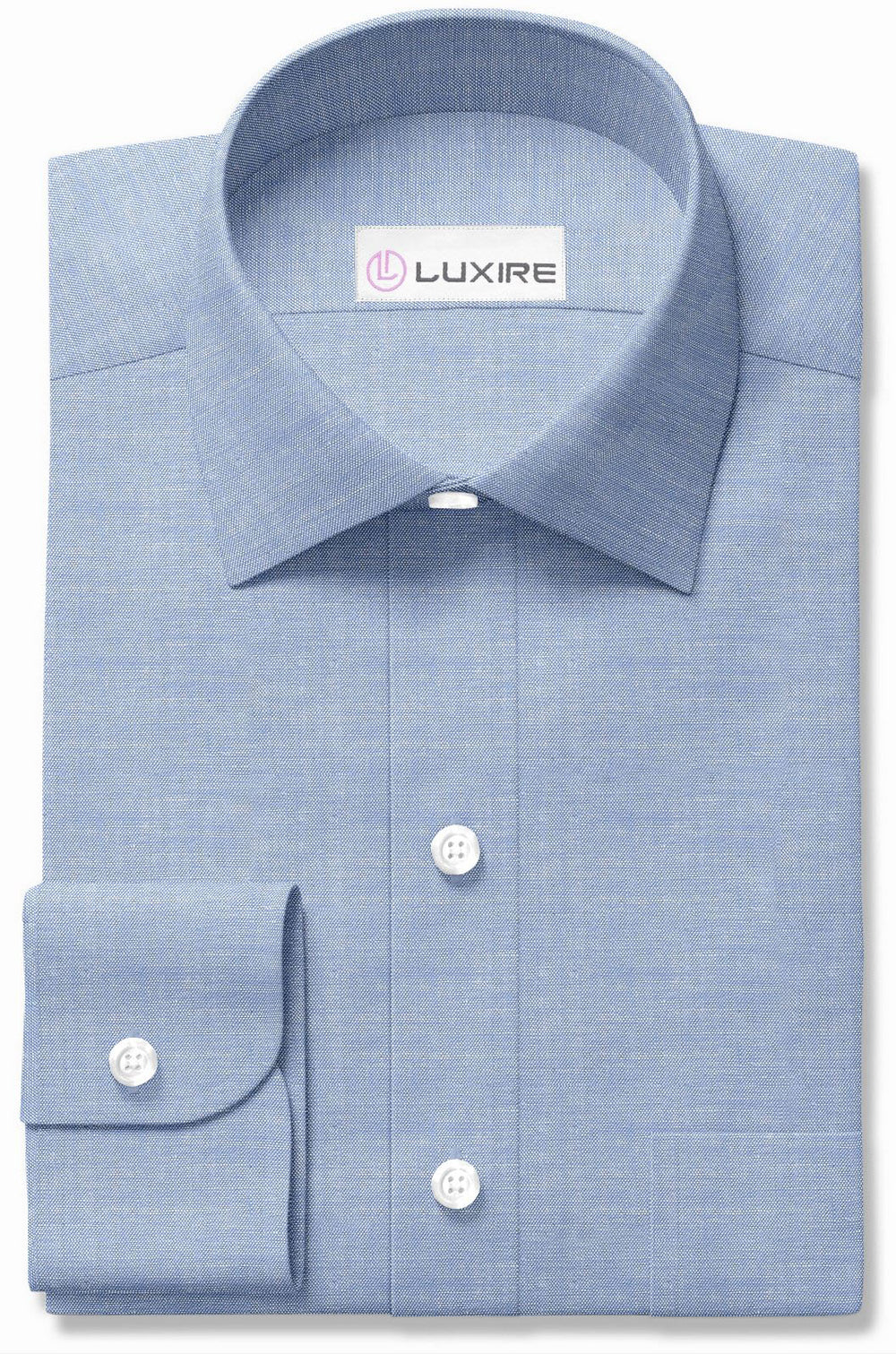 Cotton-Linen Blue Chambray