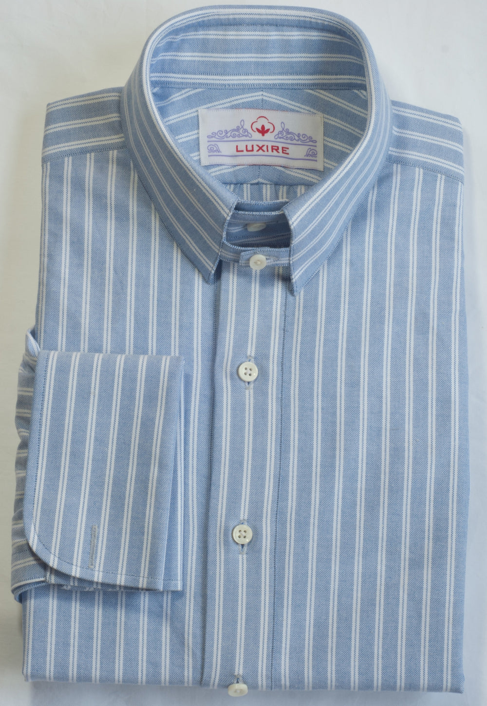 Blue White Stripes Oxford