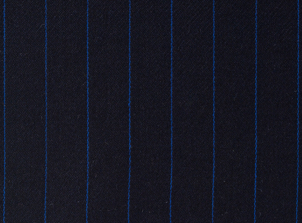 Dugdale Royal Classic - Blue Stripe On Navy Background