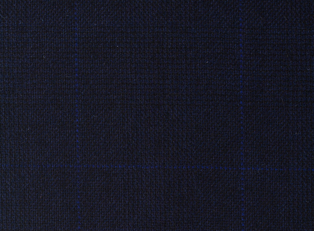 Dugdale Royal Classic - Navy Hopsack Check With Blue Overcheck