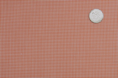 Dutch Orange Mini Checks On White